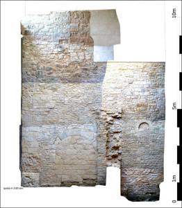 Rilievo Fotogrammetrico. Ortofoto generata dalla elaborazione di sei coppie stereoscopiche riprese mediante asta attrezzata e creazione di modello TIN vestito di texture fotografiche