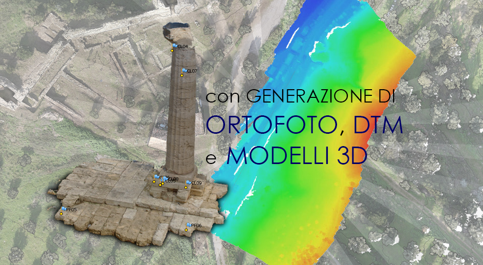 Rilievi fotogrammetrici per archeologia, architettura, urbanistica e geologia.