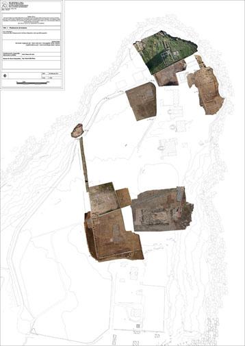 Capo Colonna (KR) – Santuario di Hera Lacinia – Planimetria del parco archeologico con integrati rilievi fotogrammetrici realizzati da drone